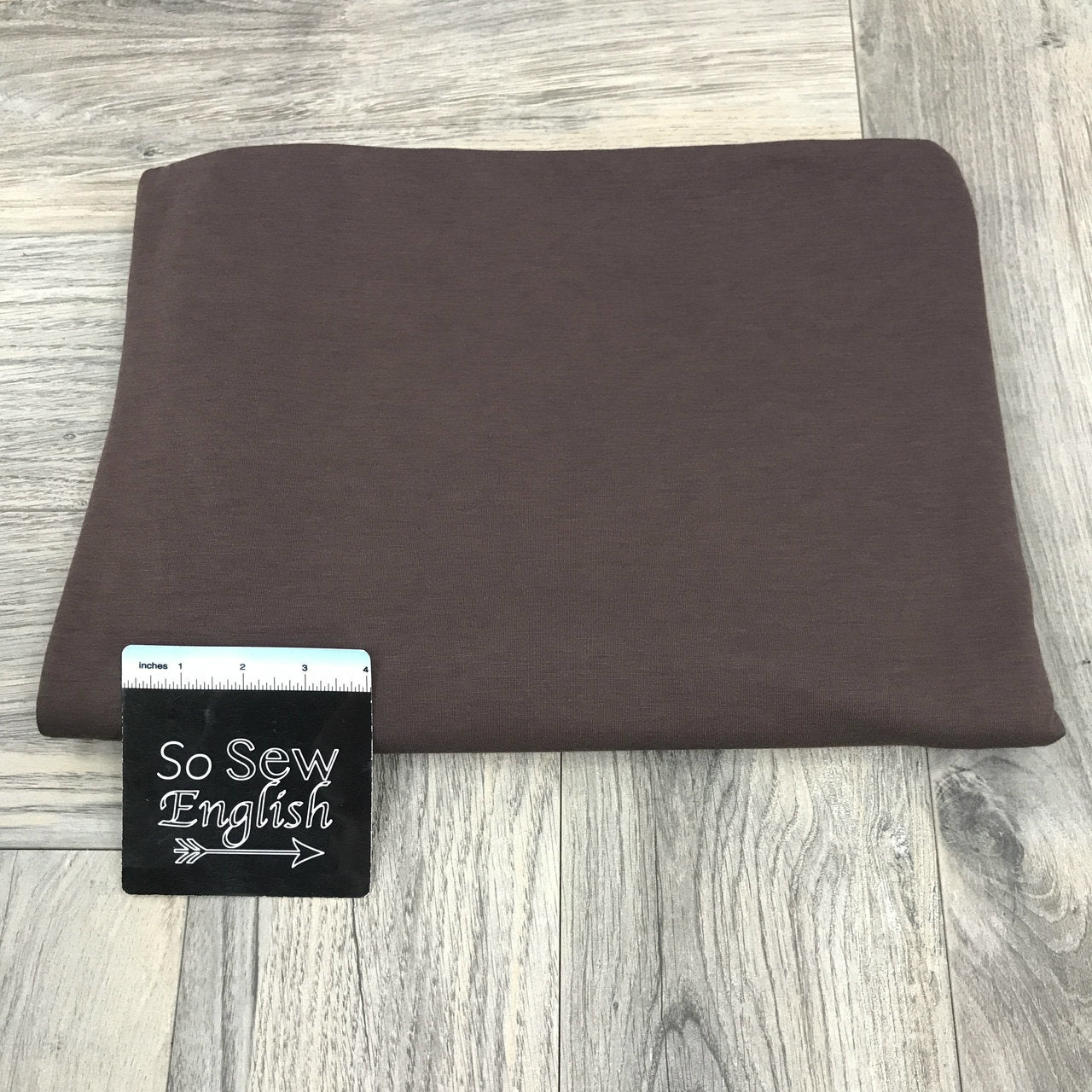 Solid HERSHEY - Poly Rayon Spandex -By the yard