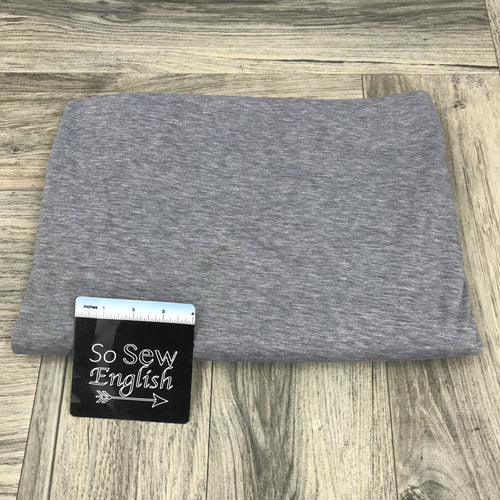 Solid HEATHER GREY - Poly Rayon Spandex -By the yard