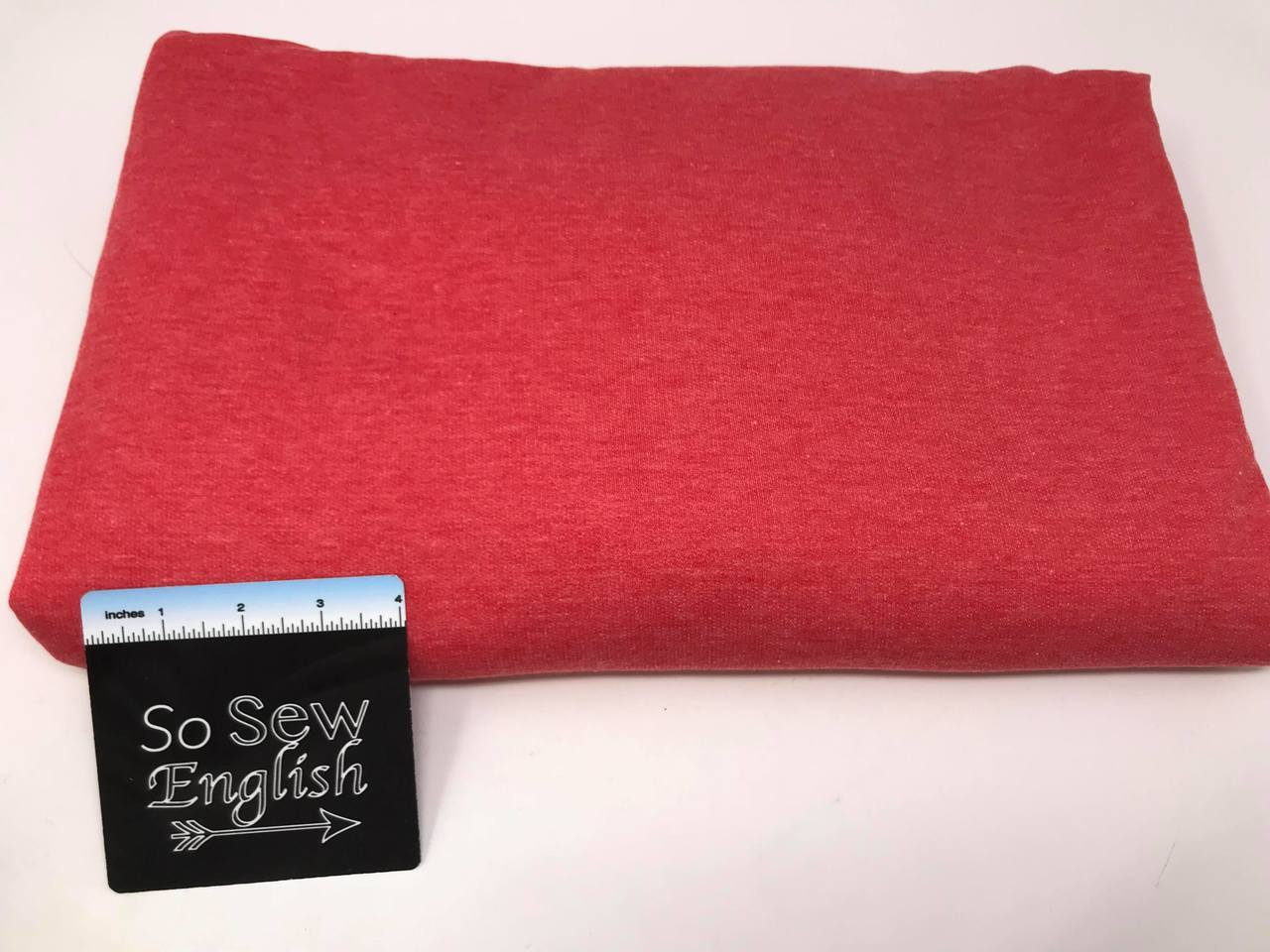 Light Red BRUSHED FT - Poly Rayon Spandex French Terry- By the yard