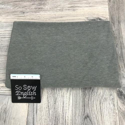 Solid HEATHERED OLIVE- Poly Rayon Spandex -By the yard