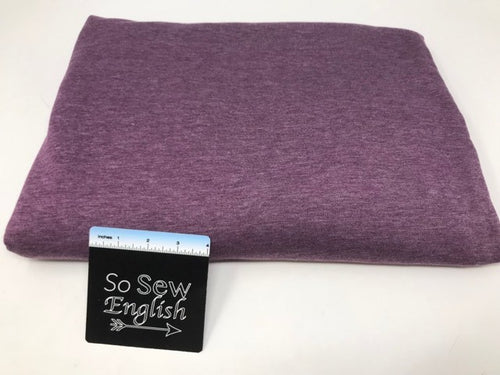 Purple BRUSHED FT - Poly Rayon Spandex French Terry- By the yard