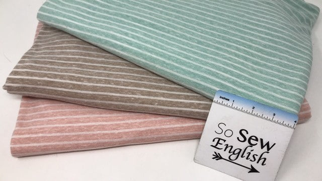 Taupe Stripe-TRIBLEND - By the yard