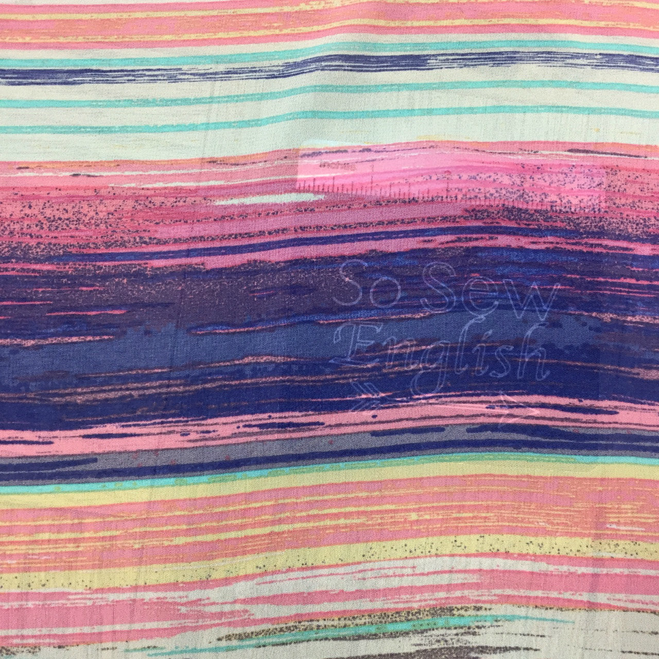 Multi Colored Stripe - Hi Multi Chiffon WOVEN - By the yard