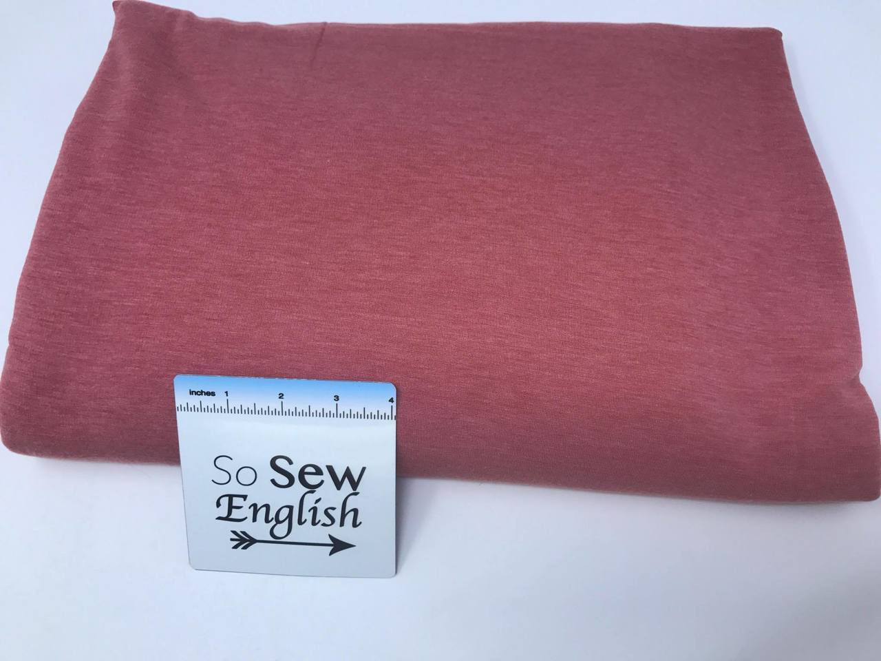 Solid Marsala BRUSHED FT  -Poly Rayon Spandex  French Terry - By the yard