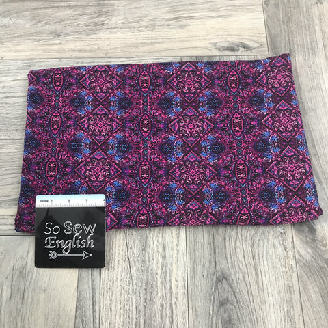 Black/Pink GORGEOUS - Rayon Challis WOVEN - By the yard