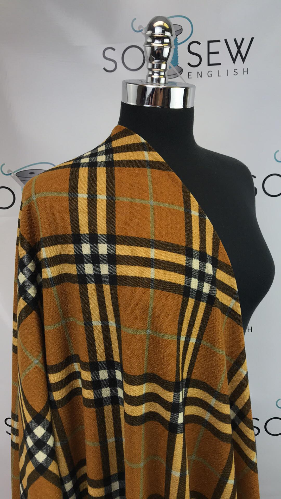 Mustard CAMDEN Diagonal Plaid - Hacci - By The Yard