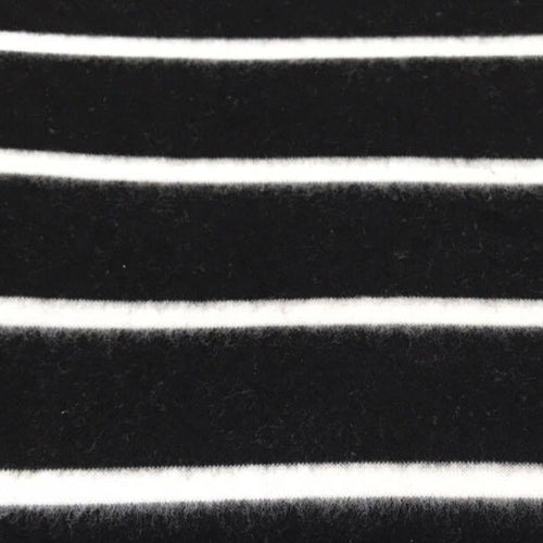 "3"" Black/Ivory Stripe -Super Brushed Hacci - By The Yard"