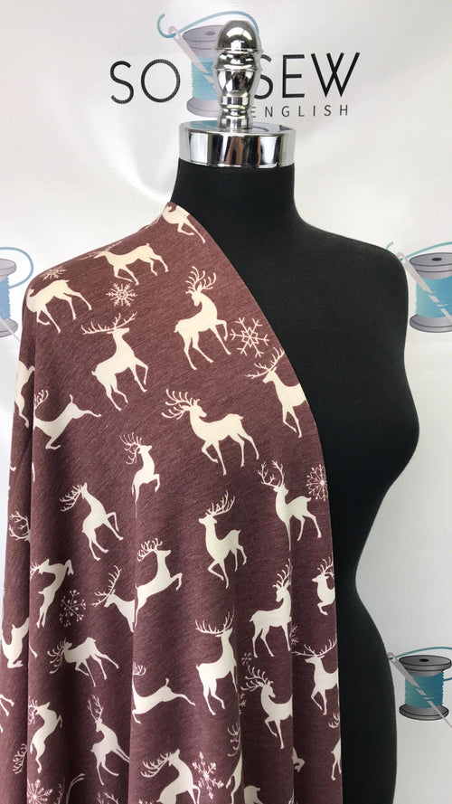 READY CUT: 3YDS Oh Deer! French Terry :RC001018