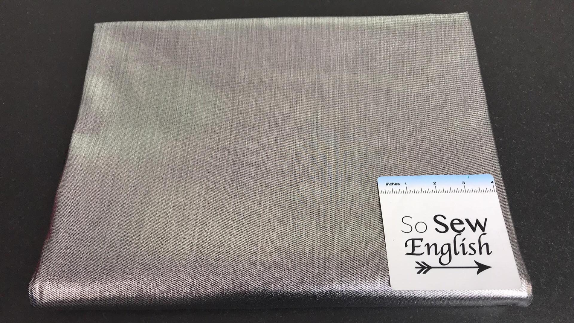 Silver Foil -slight stretch Twill - By the yard