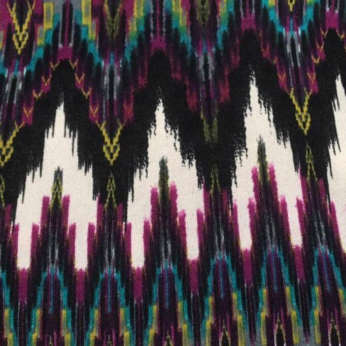 Magenta/Teal Distressed Chevron -Ana Hacci- By The Yard