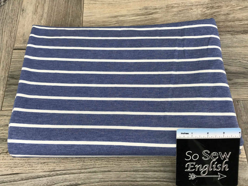 Denim SAM Stripe -French Terry- By the yard