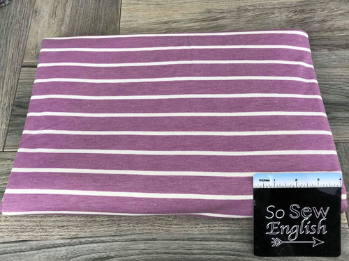 Lavender SAM Stripe -French Terry- By the yard
