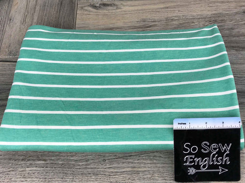 Mint SAM Stripe -French Terry- By the yard