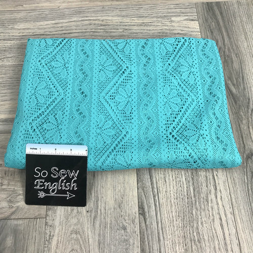 Teal Crochet Lace- Crochet Lace -By the yard