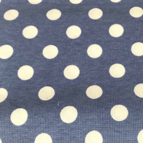 Vintage Blue DOT - Micro Thermal Knit - By the yard