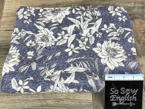 Navy Welford Floral -TRIBLEND - By the yard