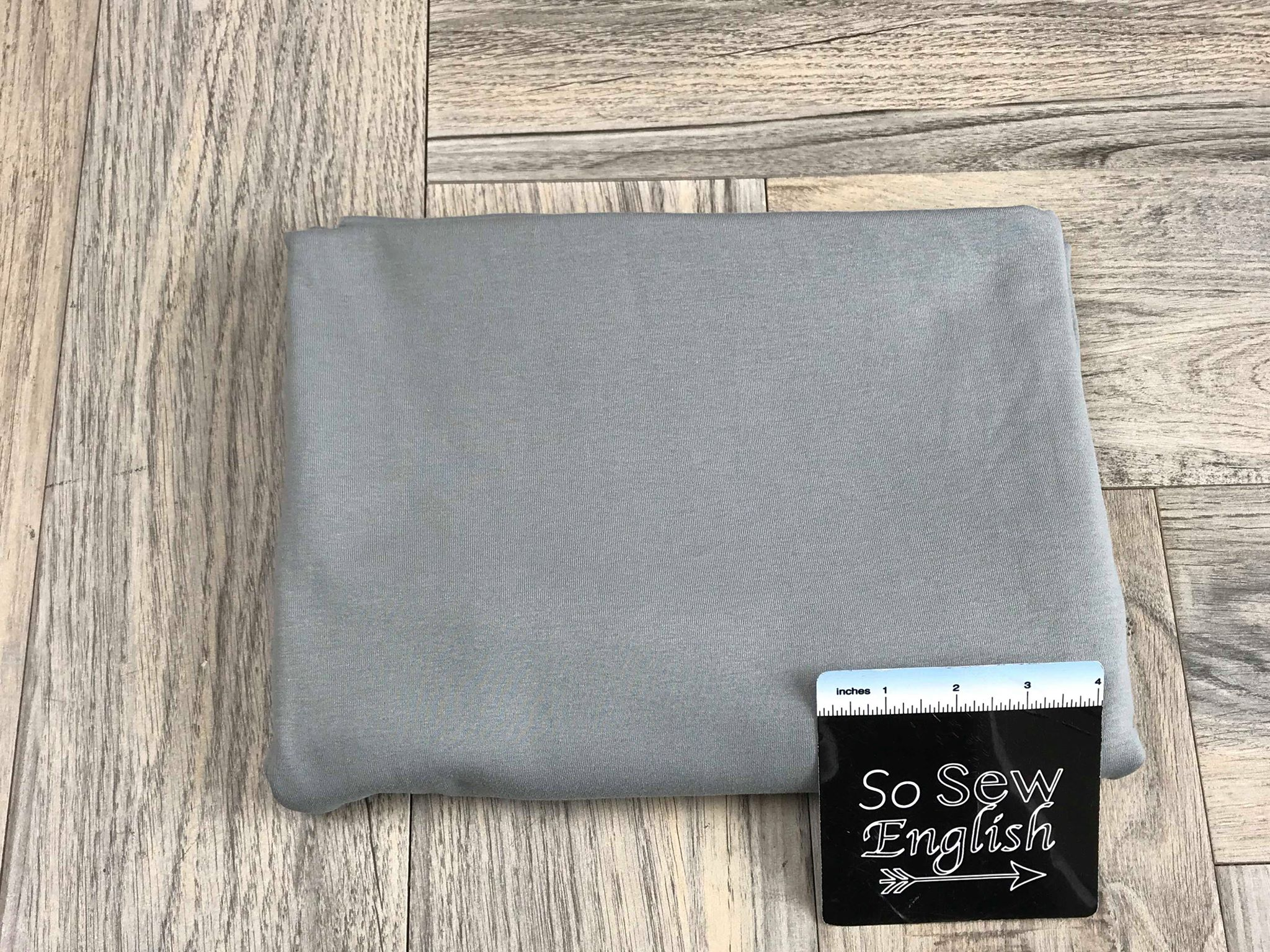 Solid Grey -1x1 Rib Cotton Spandex - By The Yard