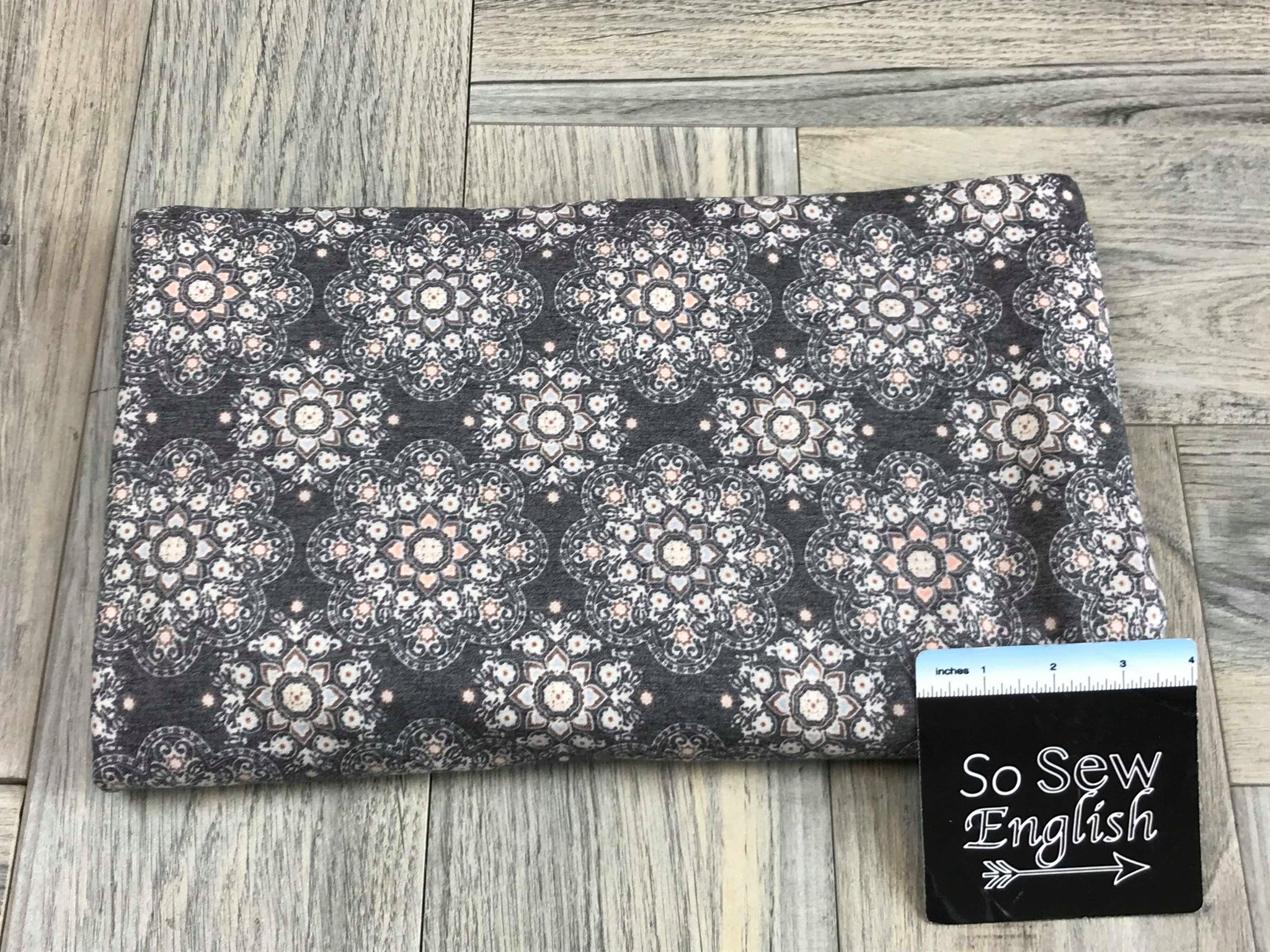 Charcoal ZEPHRA BOHO -French Terry- By the yard