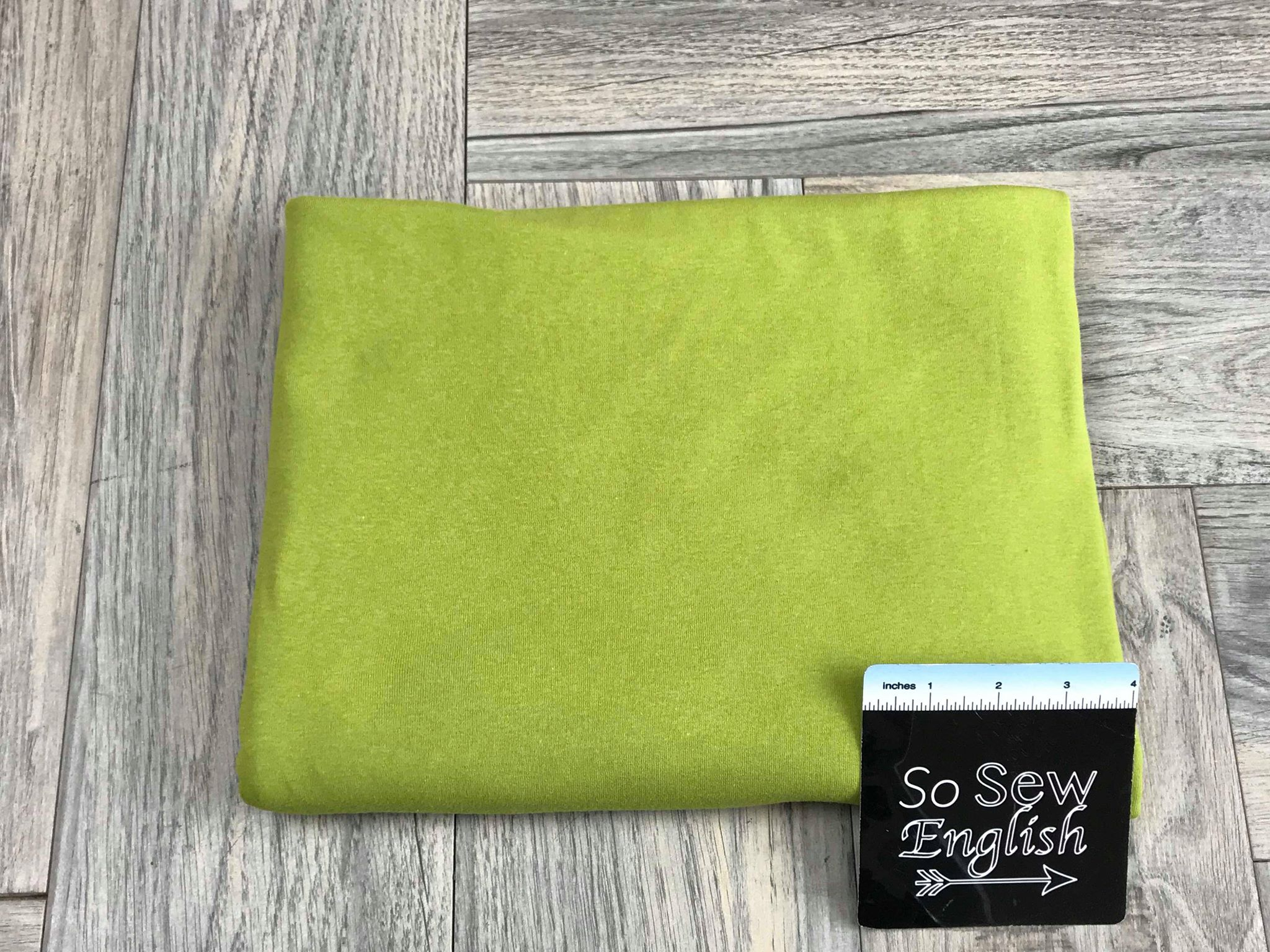 Solid Green -1x1 Rib Cotton Spandex - By The Yard