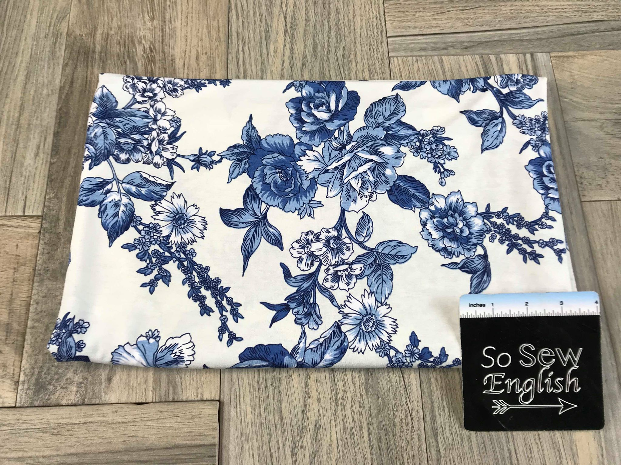 Blue China Floral - Bulgaree ITY - By the yard
