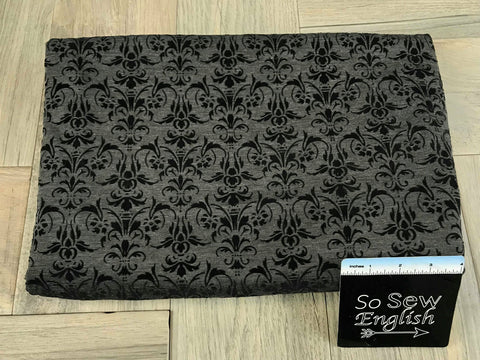 Black SMALL -Quilted Knit - By the yard