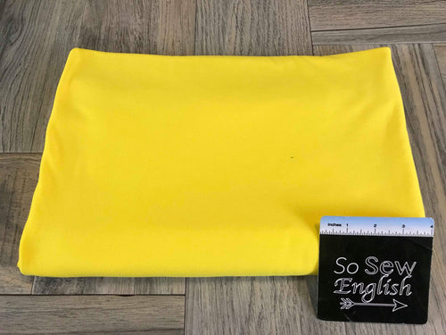 Solid Yellow -Cotton Modal Spandex - By the yard