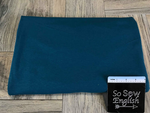 Solid Teal -Cotton Modal Spandex - By the yard