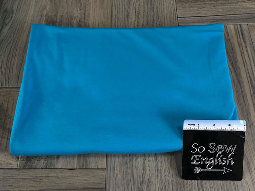 Solid Bright Blue -Cotton Modal Spandex - By the yard