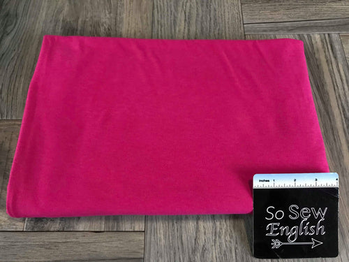 Solid Fuchsia -Cotton Modal Spandex - By the yard