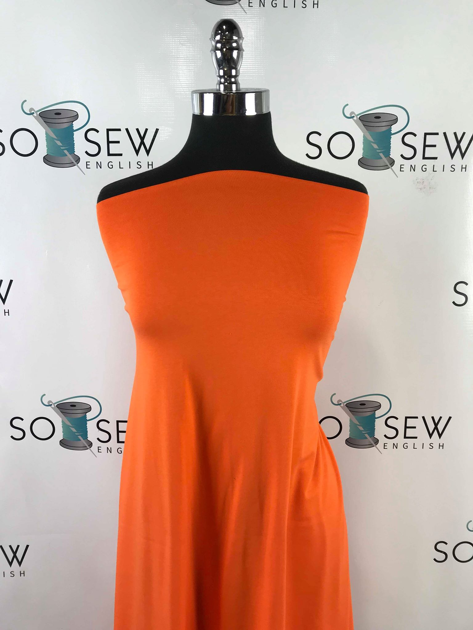 Solid Orange -Cotton Modal Spandex - By the yard