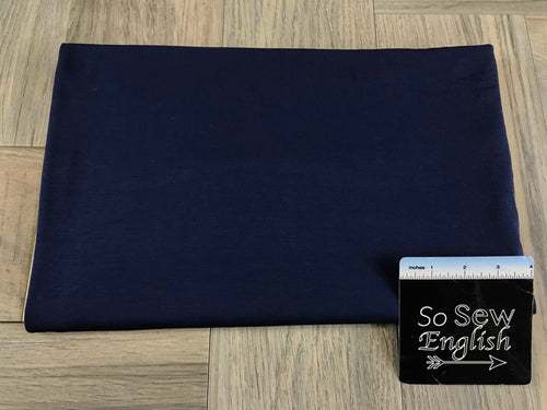 Solid NAVY -Rayon Modal -By the yard