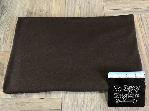 Solid Chocolate Brown -Cotton Modal Spandex - By the yard