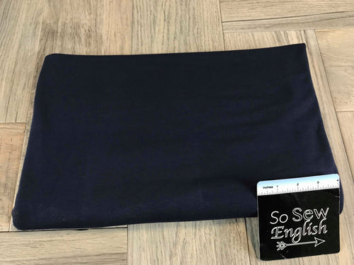 Solid Navy -225gsm MODAL PONTE  - By The Yard