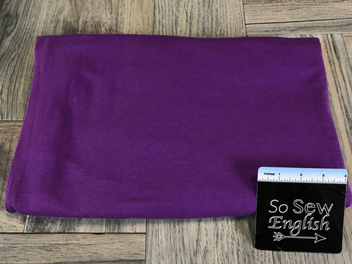 Solid Purple -Cotton Modal Spandex - By the yard