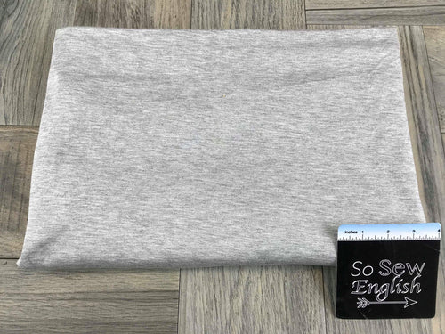Solid Heather Gray -Rayon Spandex -By the yard