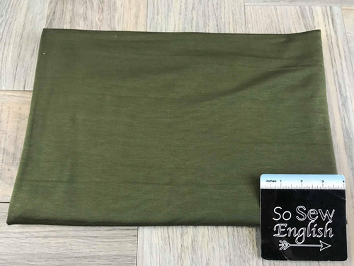 Solid OLIVE -Rayon Modal -By the yard