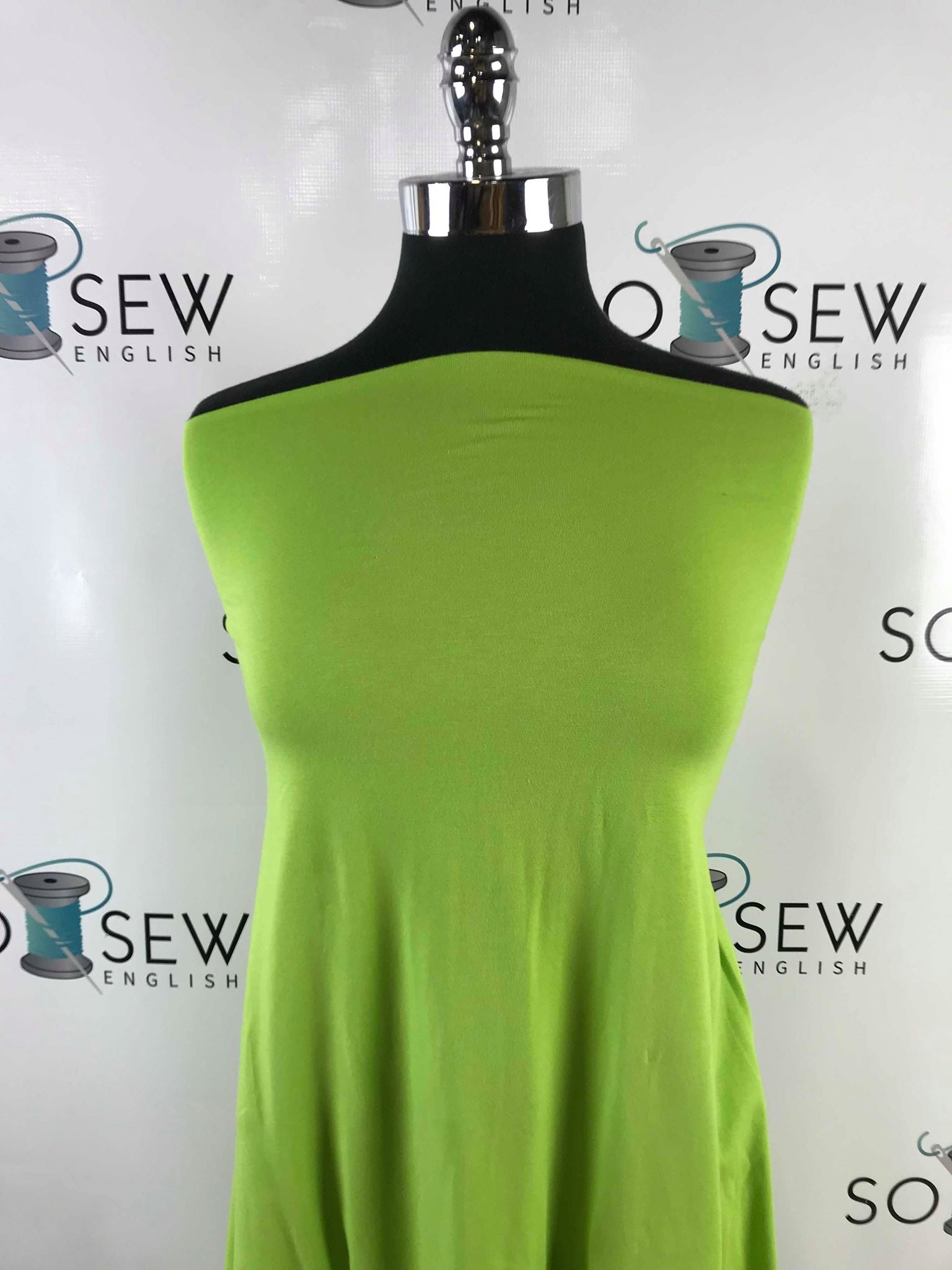 Solid Lime Green -Cotton Modal Spandex - By the yard