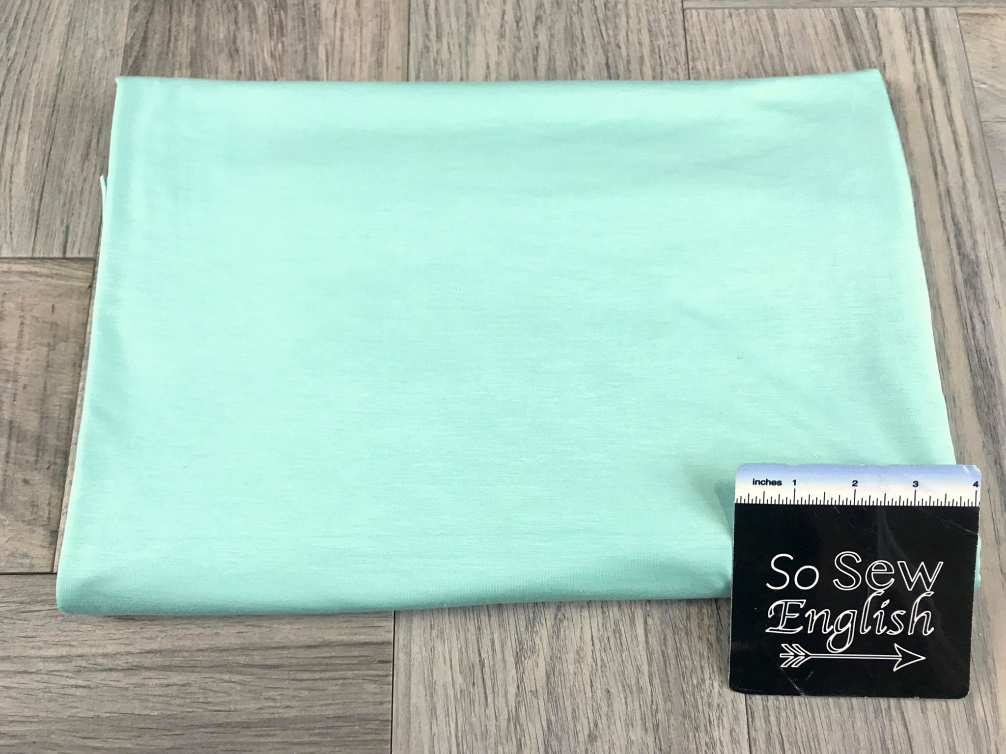 Solid Mint -Rayon Spandex -By the yard