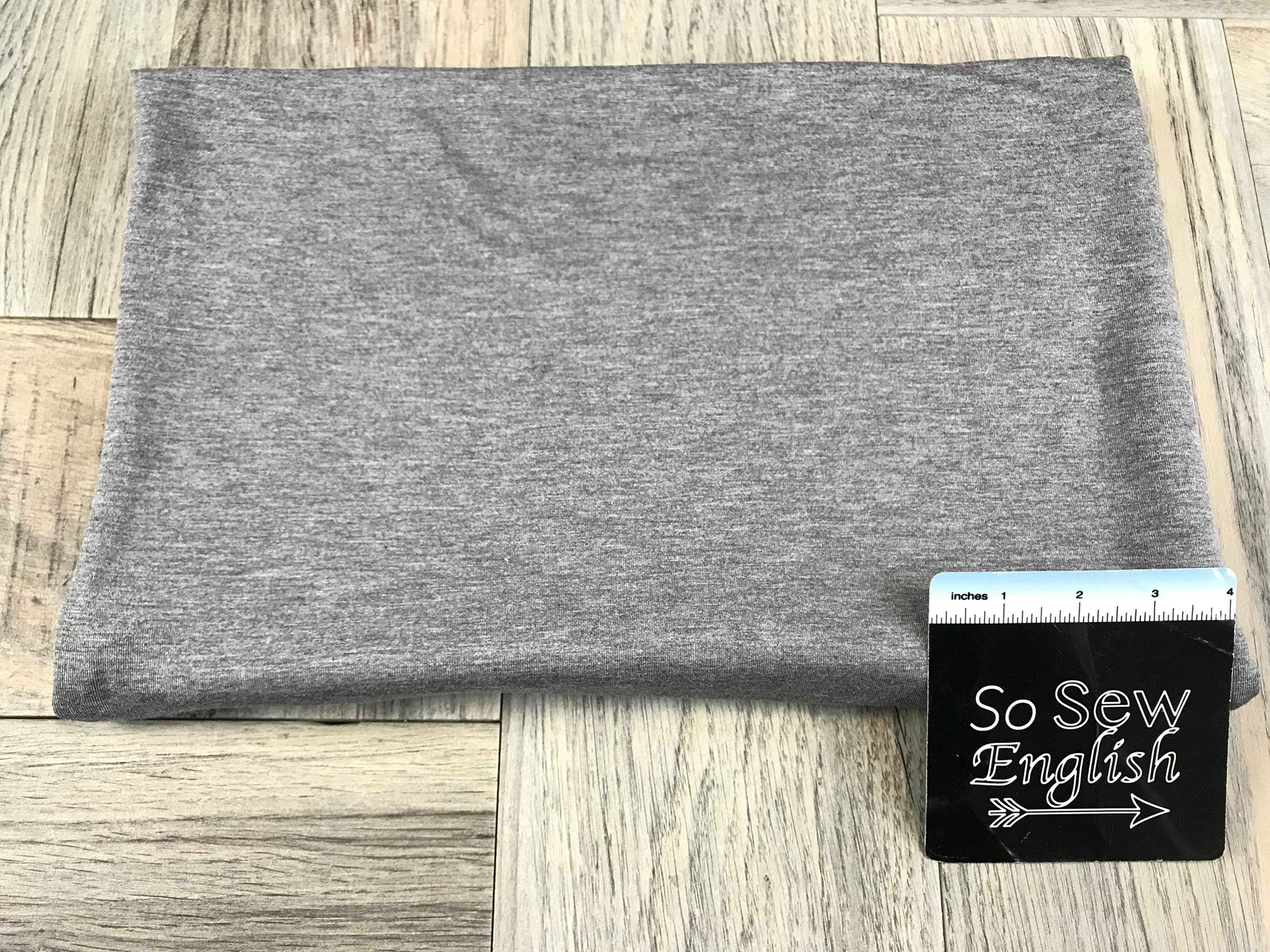 Solid 2tone Charcoal -Modal Spandex - By the yard