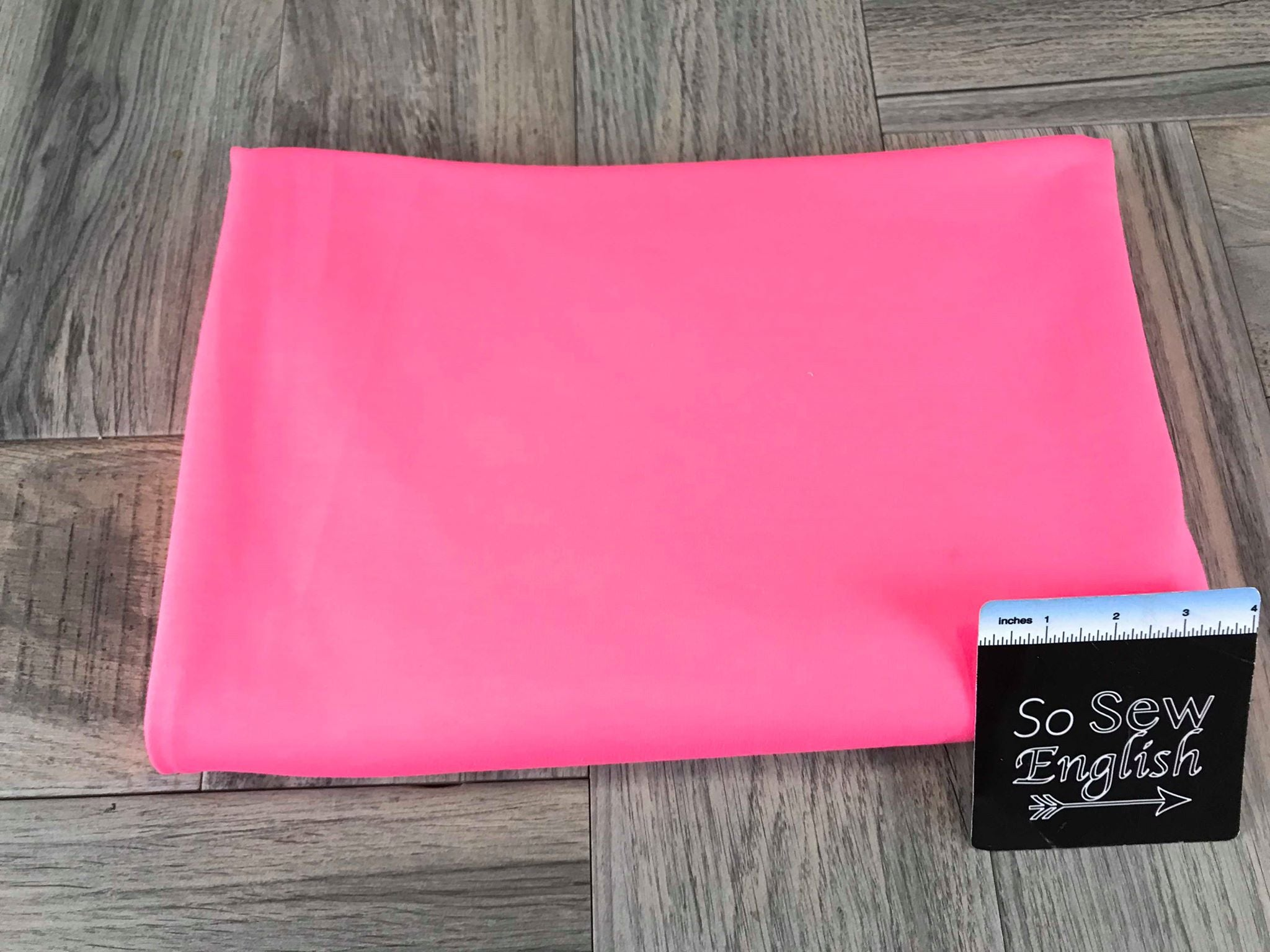 Solid Neon Pink - French Terry- By the yard