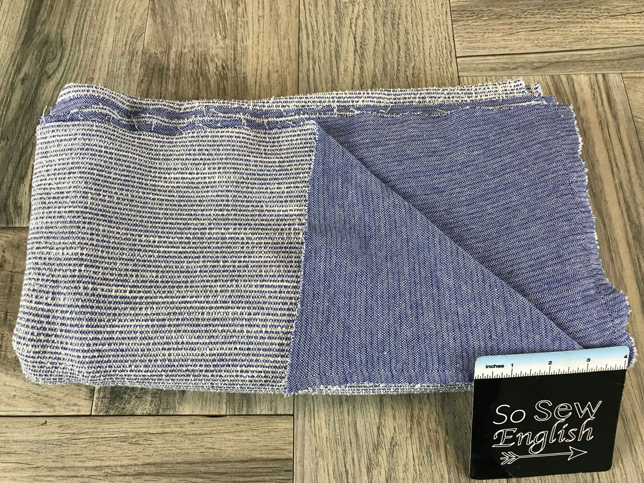 Blue- Cotton Double Knit - By the yard