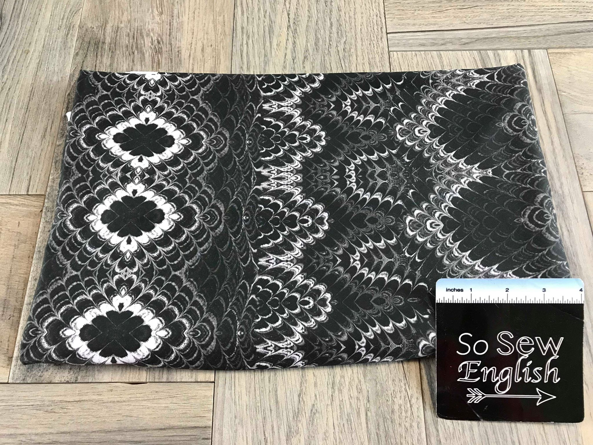 Black/White KALEIDOSCOPE -Swim -By The Yard