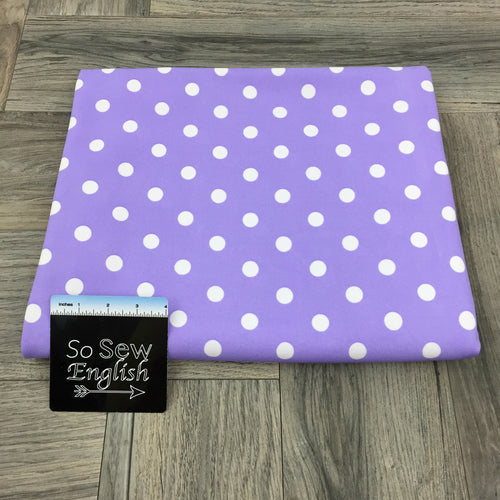 Orchid/Ivory LARGE POLKA DOT - Crepe Scuba -By The Yard