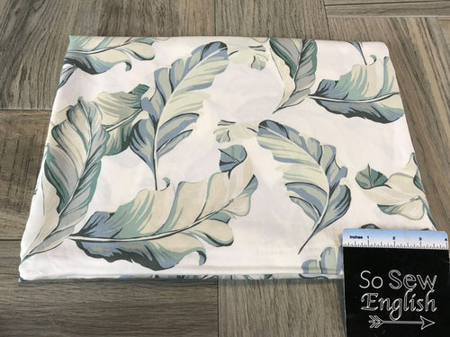 Ivory/Taupe Floating Leaves -Rayon Challis Woven- By the yard