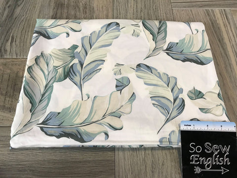 Sage Floral -Wool Dobby Woven- By the yard
