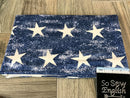 Vintage Blue Stars -Modal Spandex - By the yard (Patriotic)