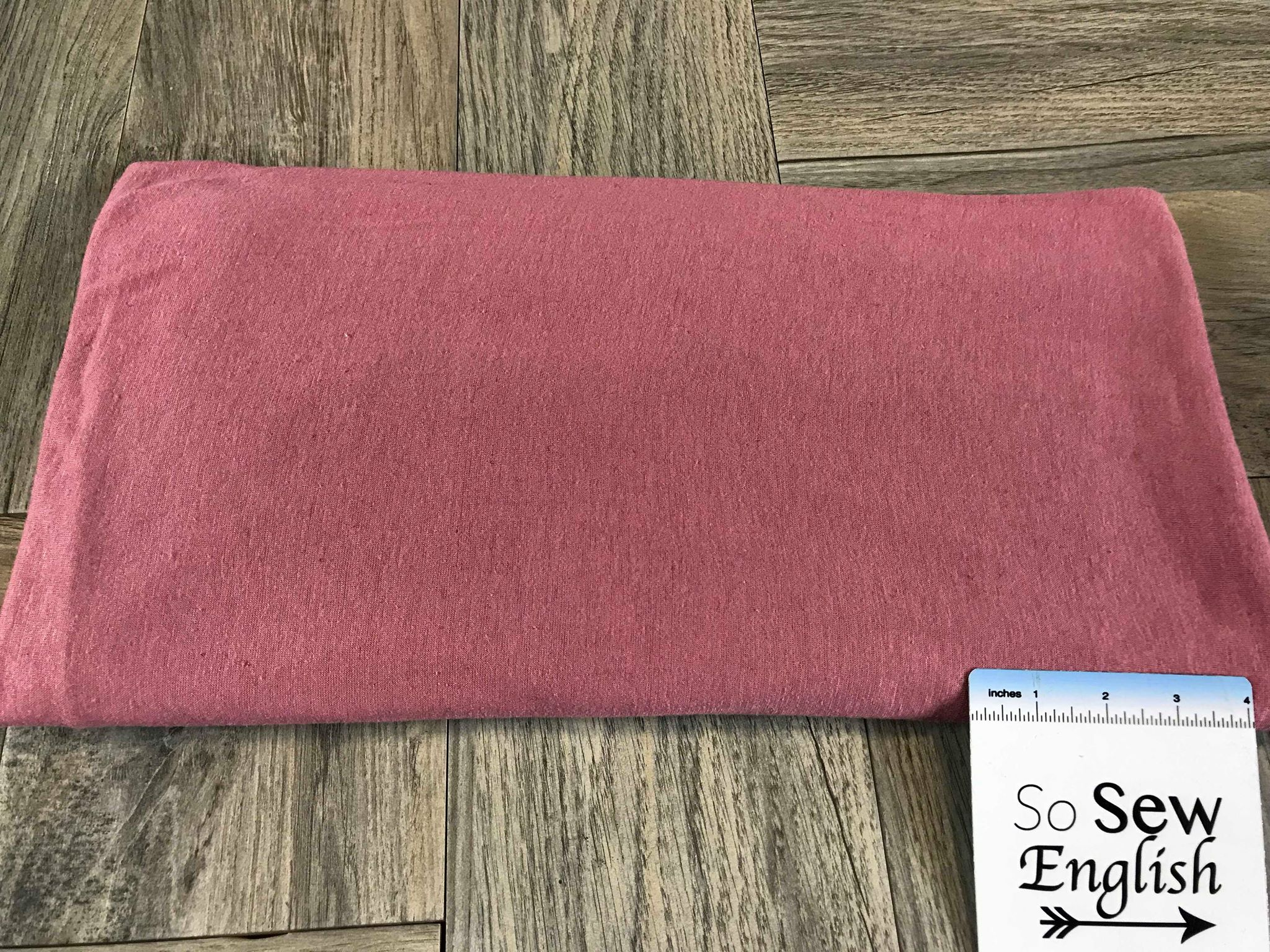 Solid Dusty Coral -Rayon Linen Spandex -By the yard