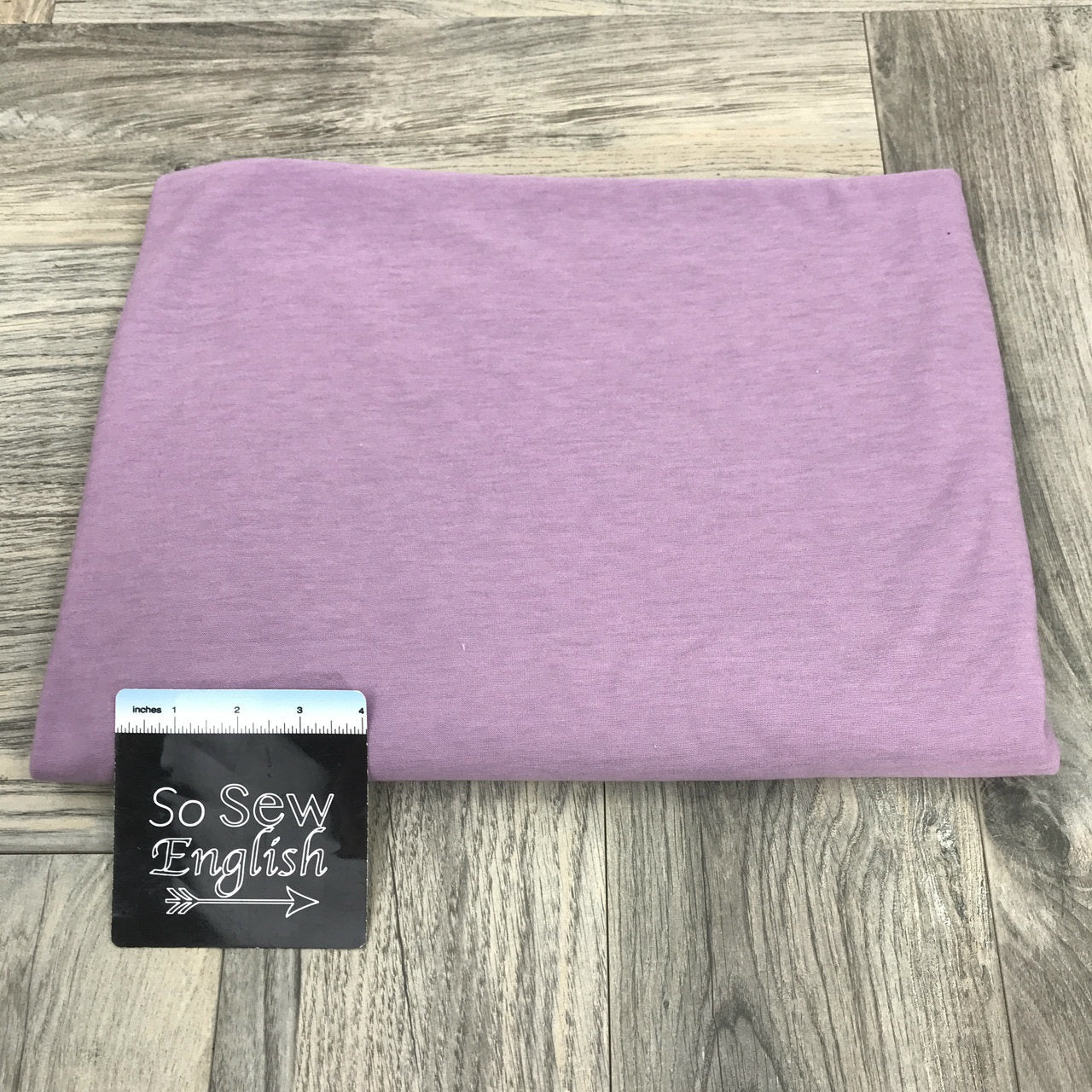 Solid LEAF LAVENDER - Poly Rayon Spandex -By the yard
