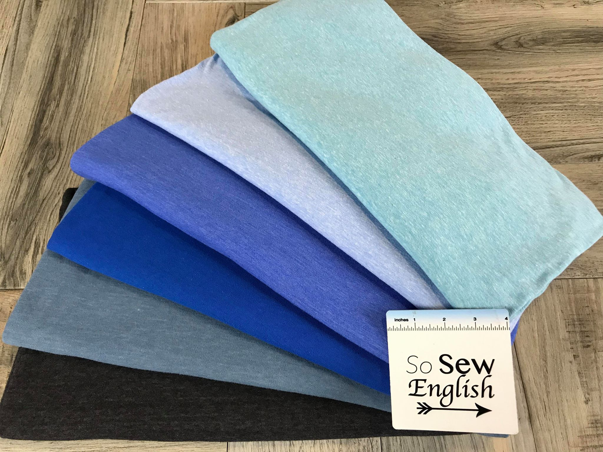 Solid Soft Teal - Poly Cotton Jersey - By the yard