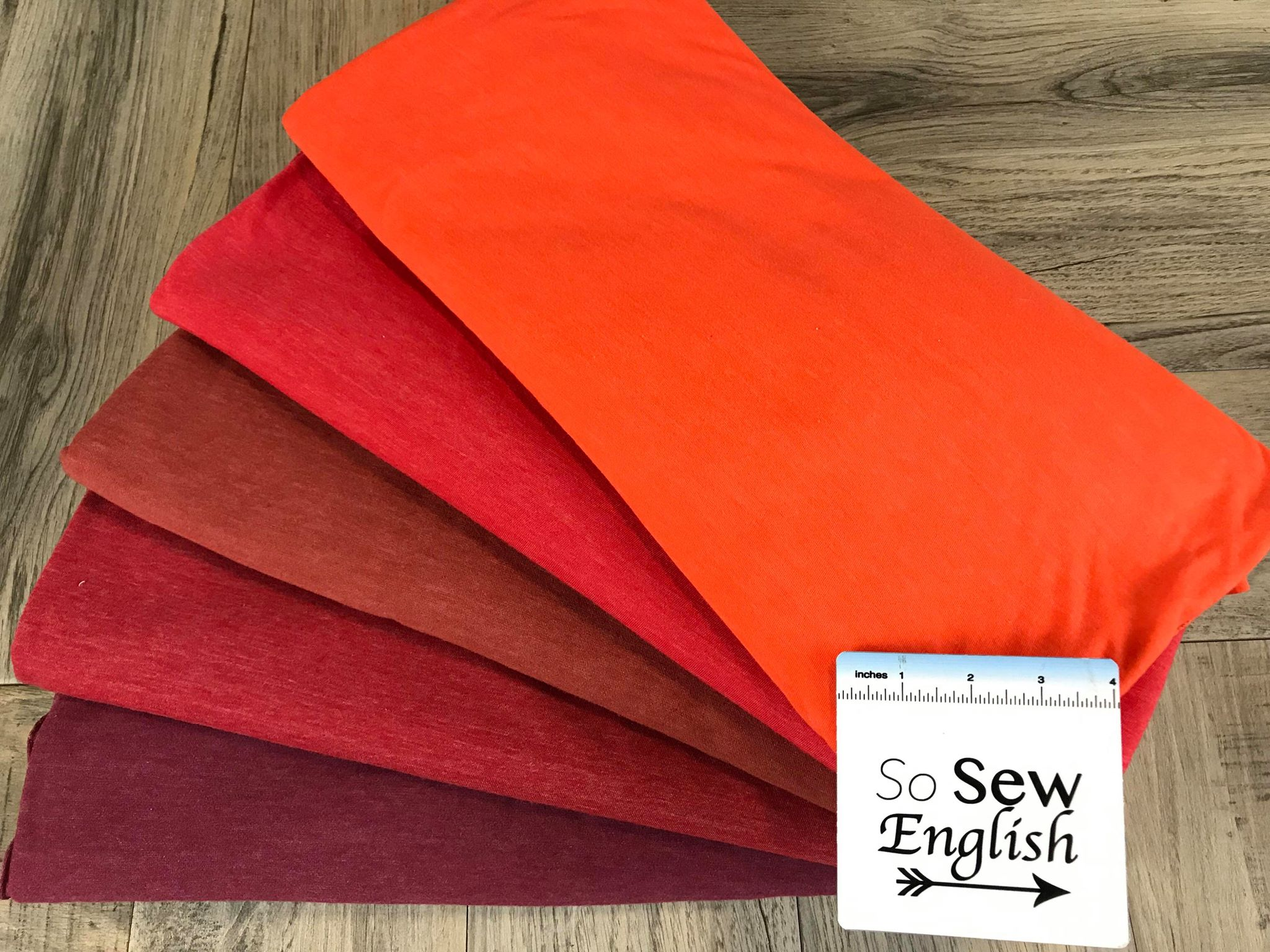 Solid Soft Red- Poly Cotton Jersey - By the yard